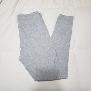 Gray Leggings With Pockets&Mesh Details